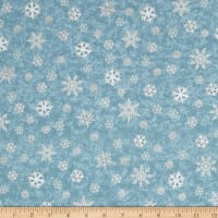 Gina Linn A Time Of Wonder Snowflakes Light Blue
