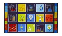 "Geek Chic Blocks 24"" Panel Navy"