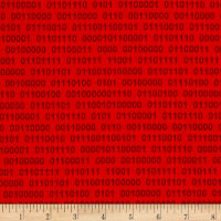 Geek Chic Binary Numbers Red