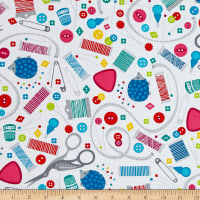 Sew Much Fun Sewing Paraphernalia White