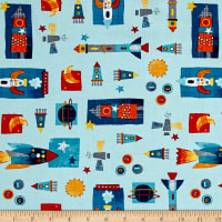 Space Adventure Space Shuttles Light Blue