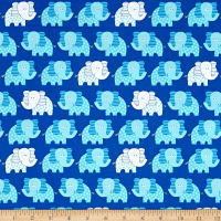 Diane Eichler Swingin' Safari Elephants Blue