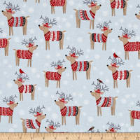 Natalie Alex Snow Delightful Reindeer Sweaters Gray
