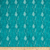 Stretch Lace Oval Floral Teal