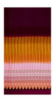 Crepe de Chine Ombre Stripe Mustard/Pink/Burgundy