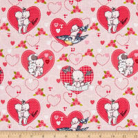 Riley Blake Kewpie Love Main Pink
