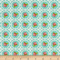 Riley Blake Hello Gorgeous Rose Grid Mint