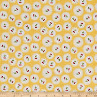 Riley Blake Sew Cherry 2 Doily Yellow