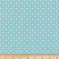 Riley Blake Sew Cherry 2 Leaf Aqua