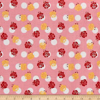 Riley Blake Sew Cherry 2  Rose Pink