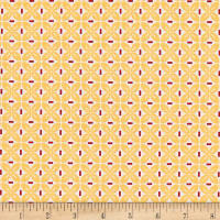 Riley Blake Sew Cherry 2 Leaf Yellow