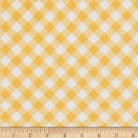 Riley Blake Sew Cherry 2 Gingham Yellow
