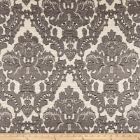 Parisian Alisace Basketweave Jacquard Damask Grey
