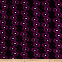 Polar Fleece Flowers Black/Purple