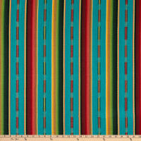 Laura & Kiran Outwest Stripes Sundance Basketweave Turquoise Multi