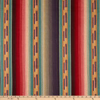 Laura & Kiran Outwest Stripes Tribal Basketweave Teal Multi