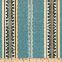 Laura & Kiran Outwest Stripes Catalan Basketweave Blues