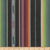 Laura & Kiran Outwest Stripes Zuni Basketweave Black Multi