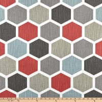Premier Prints Hexagon Scarlet Slub