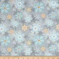 I Still Love Snow Flannel Snowflakes Gray