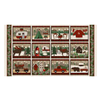 "Woodland Retreat Flannel Block 23.5"" Panel Multi"