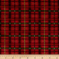 Woodland Retreat Flannel Plaid Red