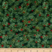 Woodland Retreat Flannel Branches Green