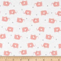 Cloud 9 Organic Tout Petit Interlock Knit Little Elephants White