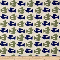 Cloud 9 Organic Holding Pattern Barkcloth On The Fly Olive