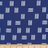 Cloud 9 Organic Lines & Shapes Canvas Dashes Indigo Blue