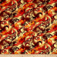 Kanvas Sun Valley Metallic Harvest Scroll Red/Orange