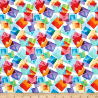Kanvas Blocks Of Brilliance Floating Squares White/Bright