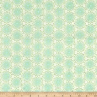 Contempo Owls And Pals Lacey Medallion Cream/Turquoise
