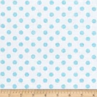 Contempo Owls And Pals Dot Weave Light Blue