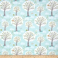 Michael Miller Windy Day Flannel Aqua