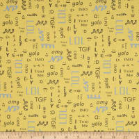 A Shout A Whisper A Text Text Time Print Yellow