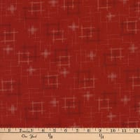 Kaufman Kasuri Hash Plaid Red