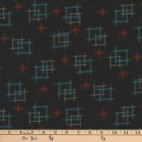 Kaufman Kasuri Hash Plaid Midnight
