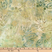 Kaufman Batiks Metallic Northwood Hollies Holly