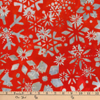 Kaufman Batiks Metallic Noel Geo Flower Holiday