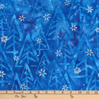 Kaufman Batiks Metallic Noel Geo Trees Winter