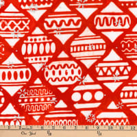 Kaufman Batiks Metallic Noel Bulbs Holiday