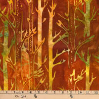 Kaufman Batiks Cornucopia 8 Tree Trunks Autumn
