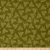 Vintage Tonal Grapes Green