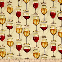 Vintage Wine Glasses Ecru