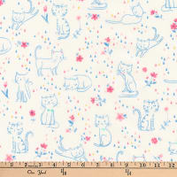 Kaufman Whiskers and Tails Kittie Fun Pastel