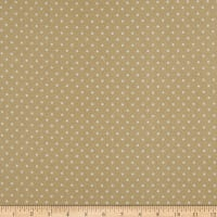 Kaufman Cozy Cotton Flannel Dots Tan