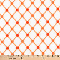 Kaufman Cozy Cotton Flannel Dot Trellis Orange