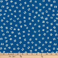Kaufman Arroyo Linen/Cotton Blend Dashes Indigo