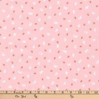 Kaufman Mini Prints Bunnies Pink